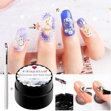 T-TIAO CLUB Nail Rhinestone Gel Soak Off UV/LED Nails Polish DIY Art Beauty Manicure Lacquer Decorations
