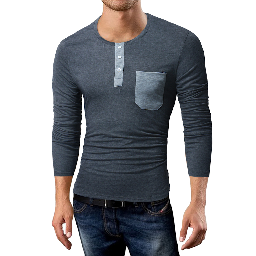 Phertiful 2017 New Men's Fashion Winter Coat Long Sleeve Sweater Men's Jacket Casual T-shirt High Collar Men Tshirt