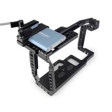 MAGICRIG BMPCC Gabbia di 4K Video Camera Cage con T5 SSD Carta Morsetto per Blackmagic Pocket Cinema Macchina Fotografica BMPCC 4 k/BMPCC 6K