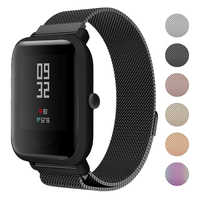 20mm Watch Bands for Xiaomi Huami Amazfit Bip Youth Watch Milanese Loop Stainless Steel Mesh wrist Strap for Amazfit Bip band