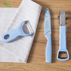 Multi-functional stainless steel fruit knife fruit planer three-piece household kitchen knife set peeler