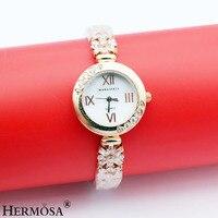Hermosa jóias melhor presente fit prom pulseiras relógio de quartzo 8 polegada 7.5''