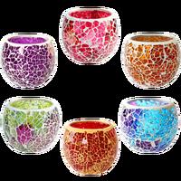Onda de Risco Marroquino Handmade Mosaico De Vidro Suporte de Vela Decorativo Festival Chá Castiçal Decoração da Mesa De Jantar À Luz de Velas