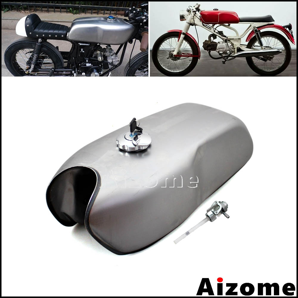 Universal Motorcycle 26 Gal Gas Tank Cafe Racer Fuel For Honda Rd400d Yamaha Rear Disc Brake Caliper Diagram And Parts Vintage 24 Kawasaki Suzuki Bmw Rd50 Rd350 Rd400