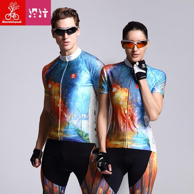 Mountainpeak 2017 Cyklistické oblečení pro muže s krátkým rukávem Cyklistické dresy Cyklistické oděvy Jezdecké obleky