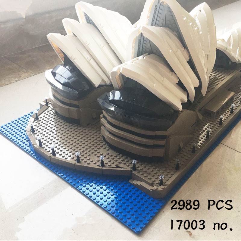 H&HXY IN STOCK Free shipping 2989Pcs 17003 Sydney Opera House LEPIN Model Building Kits Blocks Bricks Toys 10222 lepin 17003 2989pcs sydney opera house model building kits blocks bricks toys compatible legoed 10222