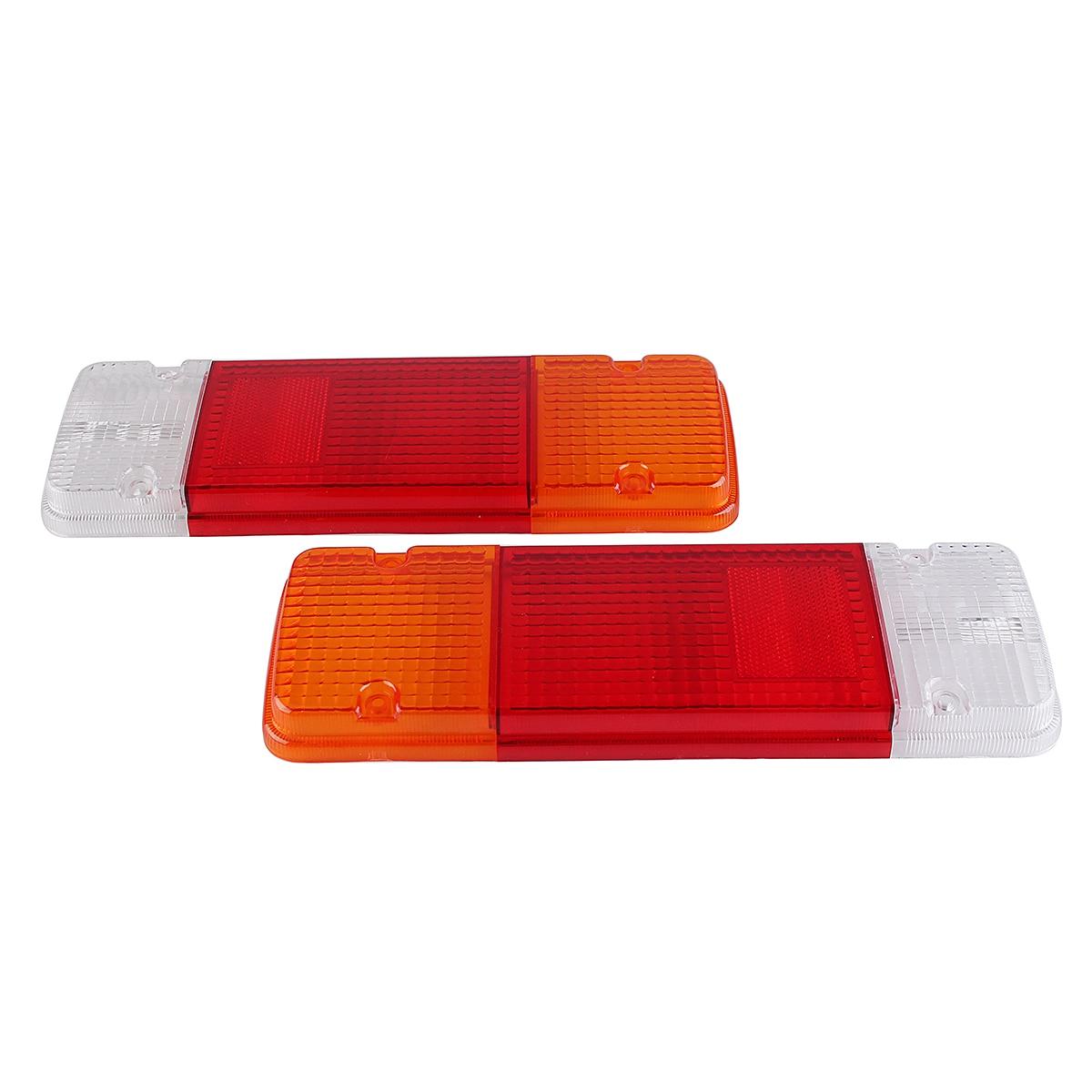 New Pair Rear Tail Light Lens White+Red+Amber Car Rear Tail Light Lens Rear Lamps for Toyota Hilux Landcruiser Ute 1984~2018