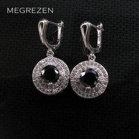 Cubic Zirconia Drop Earrings Long With Black Stone Fashion Jewellery China Big Earring Boucle D Oreilles