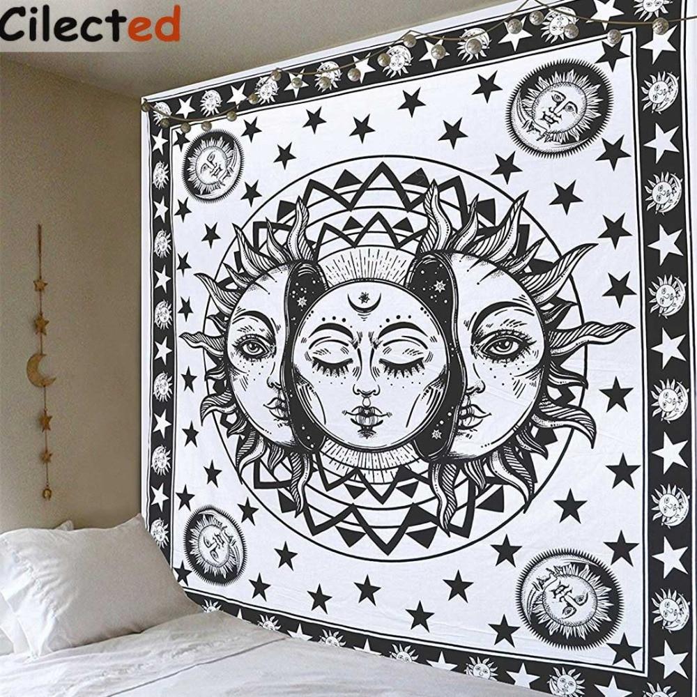 Trippy Hippie Background cloth Indian Boho Mandala Tapestry Celestial Sun