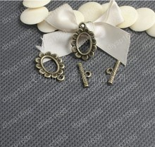 Free Shipping Wholesale DIY Antiqued Bronze Vintage Alloy Fancy Oval Flower OT Clasp Toggle Bracelet Handmade Accessories 38Sets