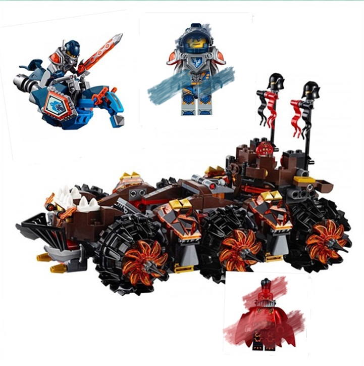 Hot Sale Nexo Knights General Magmar Siege Machine of Doom Model building Blocks compatible with lego 70321 Best Gift For Kids(China)