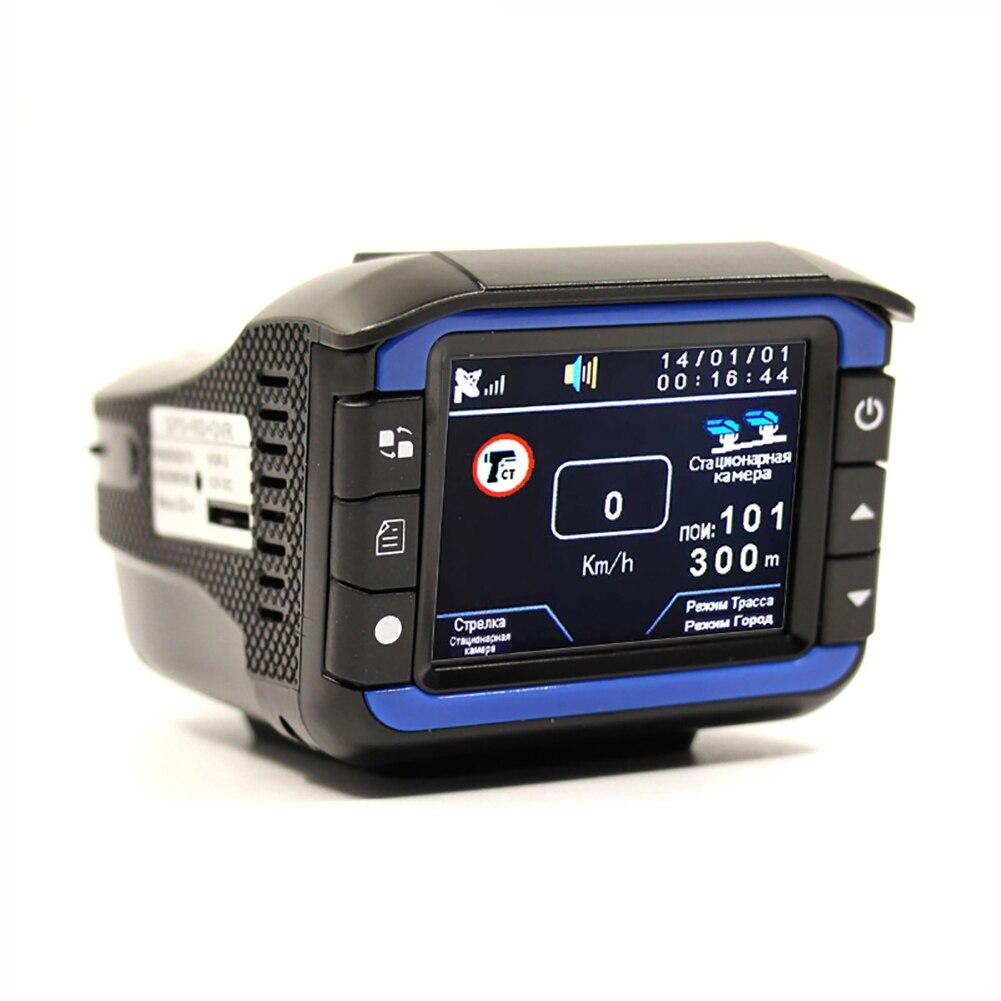 3 in 1 Auto Radar Detectoren DVR Recorder Russische Gewijd Voice Broadcast GPS Camera Dash Cam Vaste/ stroomsnelheid Meting - 2
