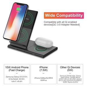 Image 2 - Wireless Charger Stand for Samsung Galaxy Watch active Buds Gear S2 S3 S4 Sport Mobile Phone Fast QI Wireless Charger Pad 10W