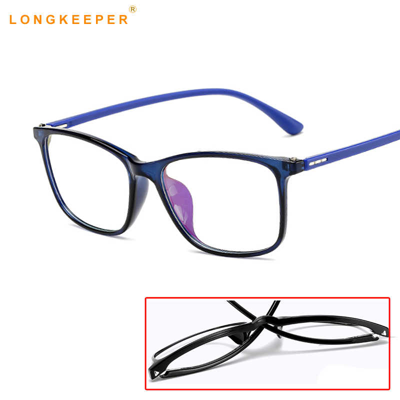 f5a47a52c712 2019 Women Computer Glasses Frame Men Anti Blue Light Eyeglasses Frame  Vintage Round Clear Lens Glasses