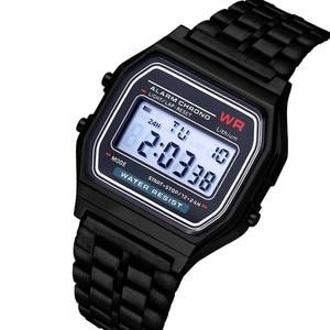 Gold Men's Creative Watches Top Brand Luxury LED Digital Watch Men Fashion Black Rose Golden Clock Saat Relogio Masculino 405(China)