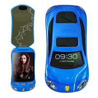 Flip Unlocked Dual Sim Cards Android Smart Super Car Model Mini Mobile Cell Phone F16 P433