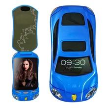 Флип открыл автомобиль smart телефон Dual SIM Android Wi-Fi bluetooth2.0 FM MP3 MP4 модель автомобиля мини мобильного телефона P434