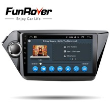 Funrover Android 8.0 2 din Car multimedia dvd player gps navi for Kia rio 2010 2010 audio video player radio tape recoreder wifi