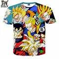 Mais novo estilo Dragon Ball Z Goku 3D t shirt engraçado Anime Super Saiyan t camisas dos homens das mulheres Harajuku camiseta Casual camisetas tops