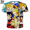 Newest Style Dragon Ball Z Goku 3D t shirt Funny Anime Super Saiyan t shirts Women Men Harajuku tee shirts Casual tshirts tops