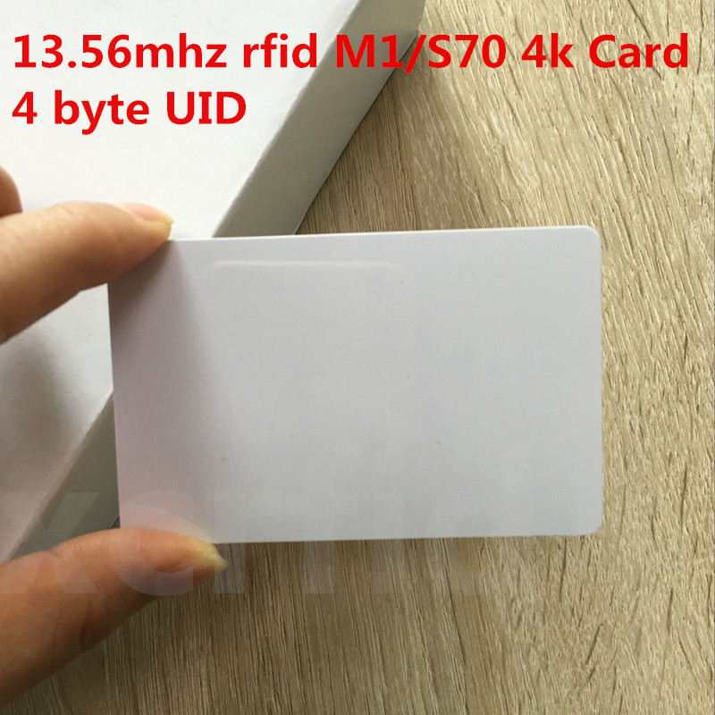 NFC 13.56mhz RFID M1 S70 4K MEMORY  ISO14443A RF Blank Card For Access Control System 10PCS