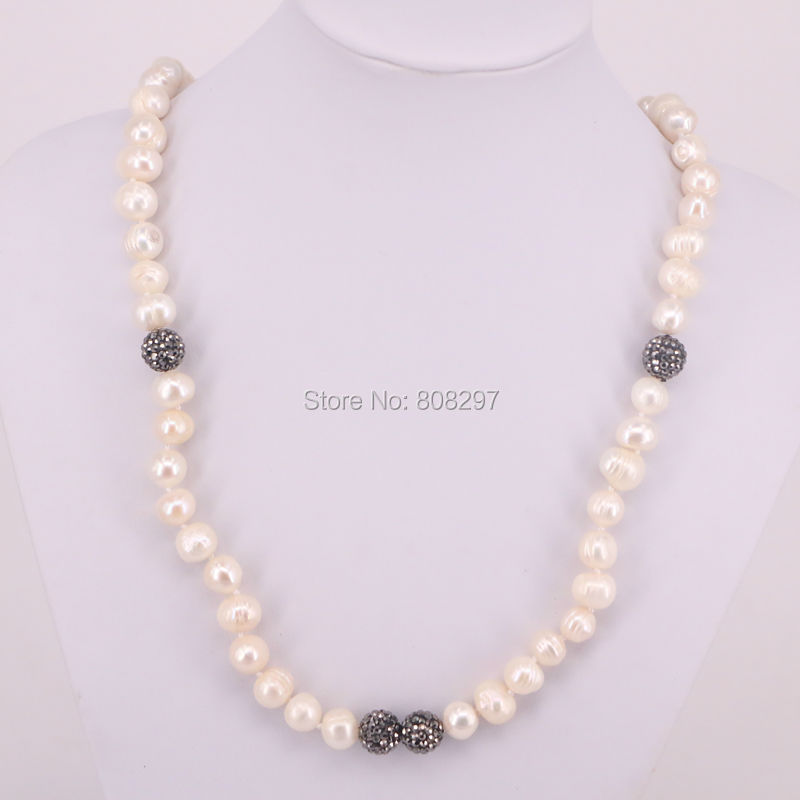 5 Strands Natural Freshwater pearl beaded necklace natural pearl jewlery beaded necklace Fashion Jewelry For Women