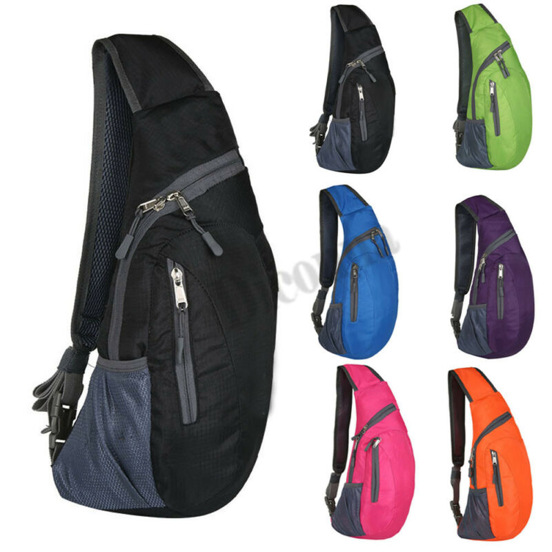 Women Men Cross Body Sling Bag Outdoor Shoulder Bag Sports Chest Backpack Bicycle