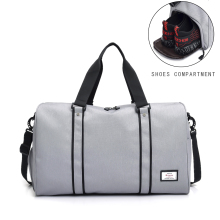 Duffle Bag Travel Bag,Carry on Hand Luggage Weekend Waterproof Big Suitcase with Shoe Pounch for Women and Men