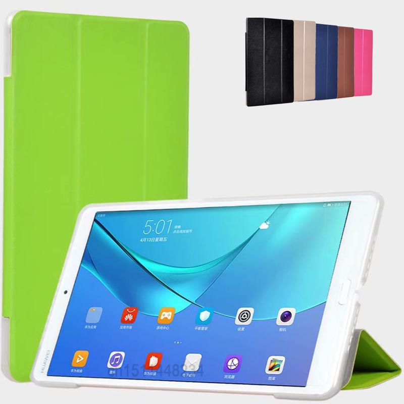 Aouiika Tablet Case For Huawei Mediapad M5 8.4 Slim Magnetic Smart Flip Cover For Huawei Mediapad M5 8 PU+Silicone Material Case