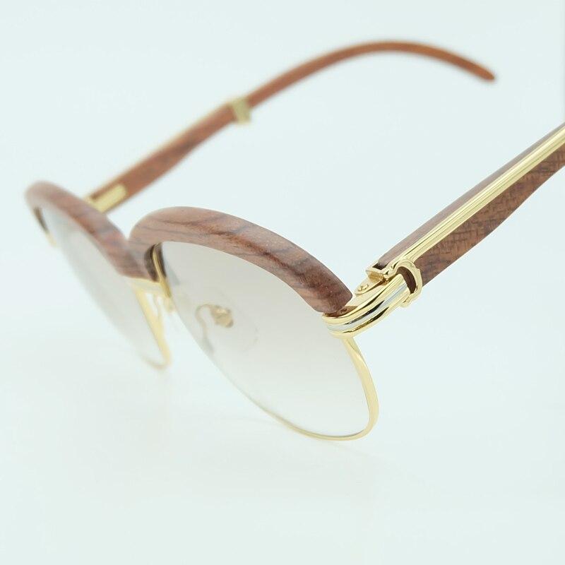 Holz Sonnenbrille Rahmen Holz Sonnenbrille Männer Rosa Sonnenbrille für Herren Fashion Shades Sonnenbrille Frauen Urlaub Zubehör - 3