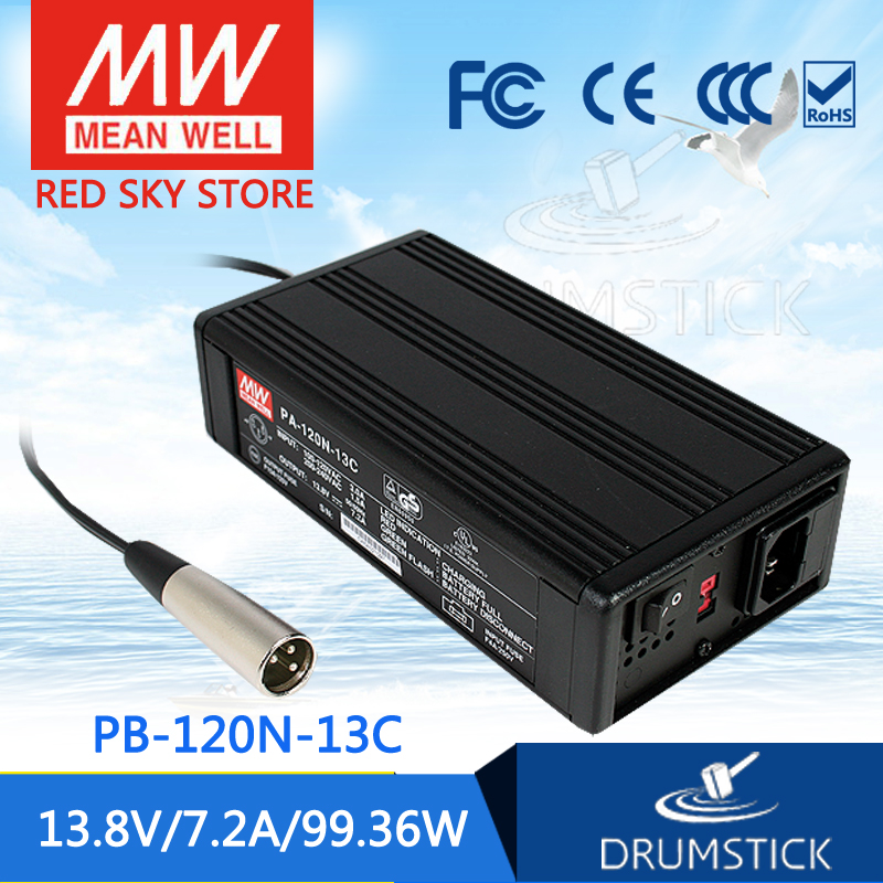 Selling Hot MEAN WELL PB-120N-13C 13.8V 7.2A meanwell PB-120N 13.8V 99.36W Single Output Power Supply or Battery Charger mean well original pb 120n 54p 55 2v 2 2a meanwell pb 120n 55 2v 121 44w power supply or battery charger