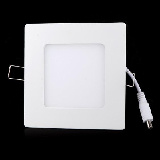 Бесплатная доставка 6 Вт AC 86-265 В ультра тонкий площади потолка Панель света, встраиваемый в стену Подпушка лампа 390lm SMD2835 LED чистый белый