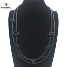 YD&YDBZ Handmade Long Necklace Fashion Black Ladies Pendant Star Jewelery Suitable For Gift Giving Exclusive Women