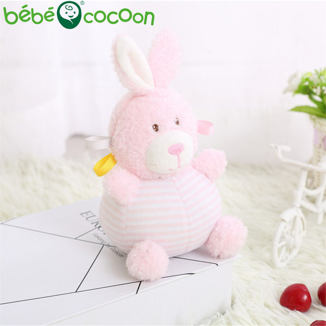 bebecocoon Plush Infant Baby Development Soft Bunny Animal Handbells Rattles Handle Toys Hot Selling Baby Toys Gifts Set