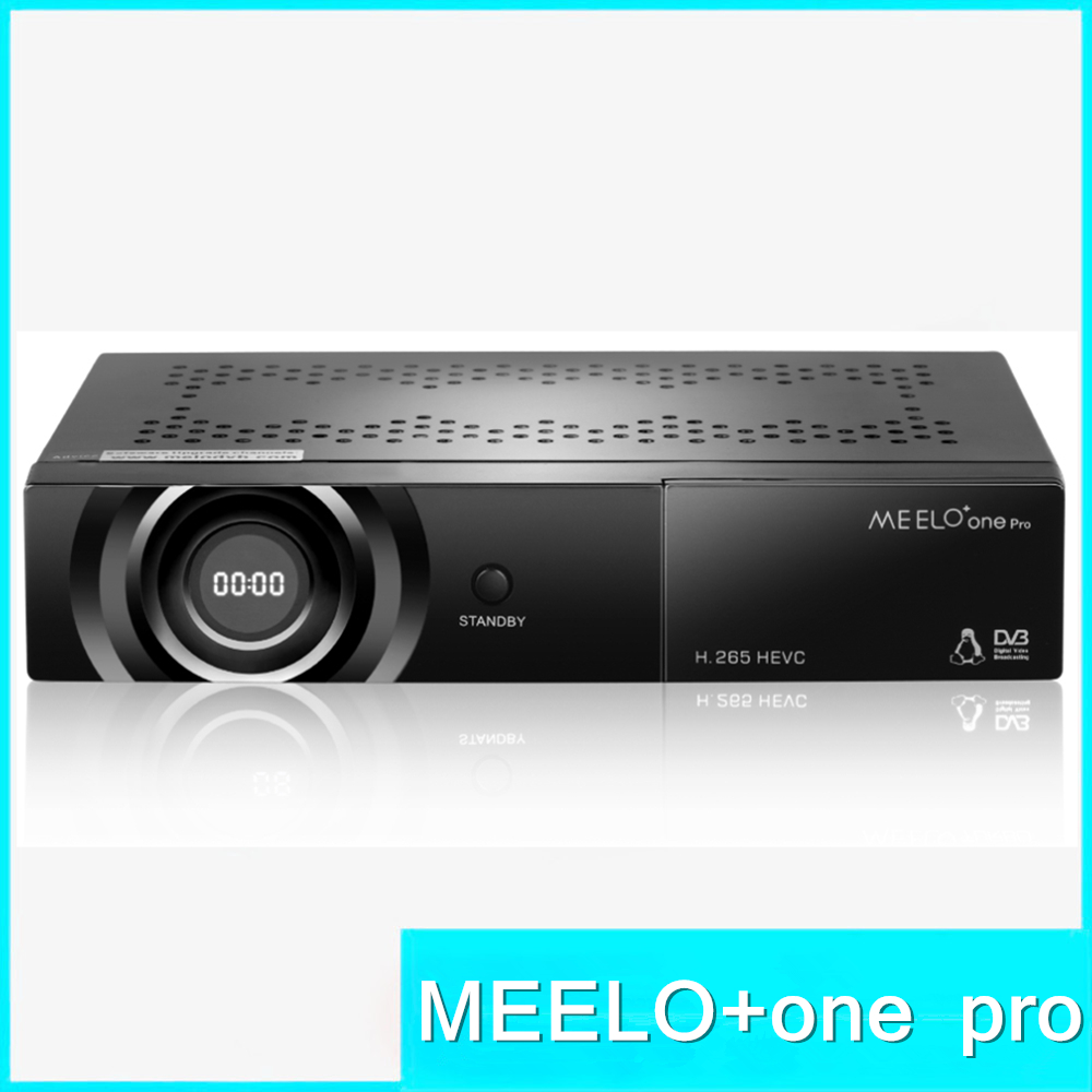 Hot-sale full HD satellite tv receiver MEELO ONE PRO H.265/HEVC/AVC Linux Operating System Support YouTube Cccam STB DVB-S2 freesat v7 hd powervu satellite tv receiver dvb s2 with 3months free africa cccam account stable on starsat 5e