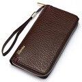 Fashion Design Man Wallet Zipper Purse  Famous Brand Long Clutches Carteira Masculina  Phone Bag