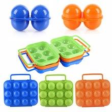 2/6/12 слотов разные цвета коробка для хранения Портативный складной Яйца коробка Пластик коробка яиц хранения Организатор полезные Еда контейнер#73