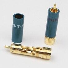 4 шт./лот позолоченный Hi Fi RCA штекер Hi End ортофон 8NX разъемы