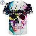 Mr.1991INC Nueva Moda Marca T-shirt Hip Hop 3d Impresión Cráneos Harajuku Animación 3d camiseta Del Verano Camisetas Frescas Tapas Marca clothing