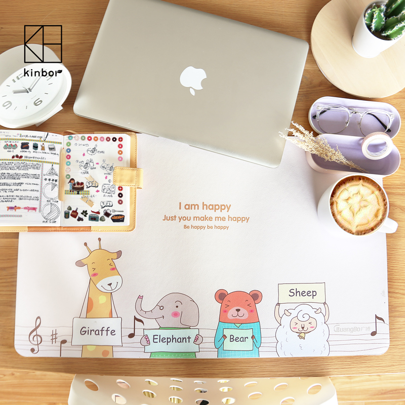 600*360mm Cute Animals Waterproof Office Large Computer Table Mat PC Loptop Writing Desk Mat Kawaii Stationery School Supplies sosw fashion anime theme death note cosplay notebook new school large writing journal 20 5cm 14 5cm