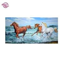 ANGEL S HAND Horse Diamond Mosaic Full Gear 5D Diy Diamond Embroidery Cross Stitch Kits Square