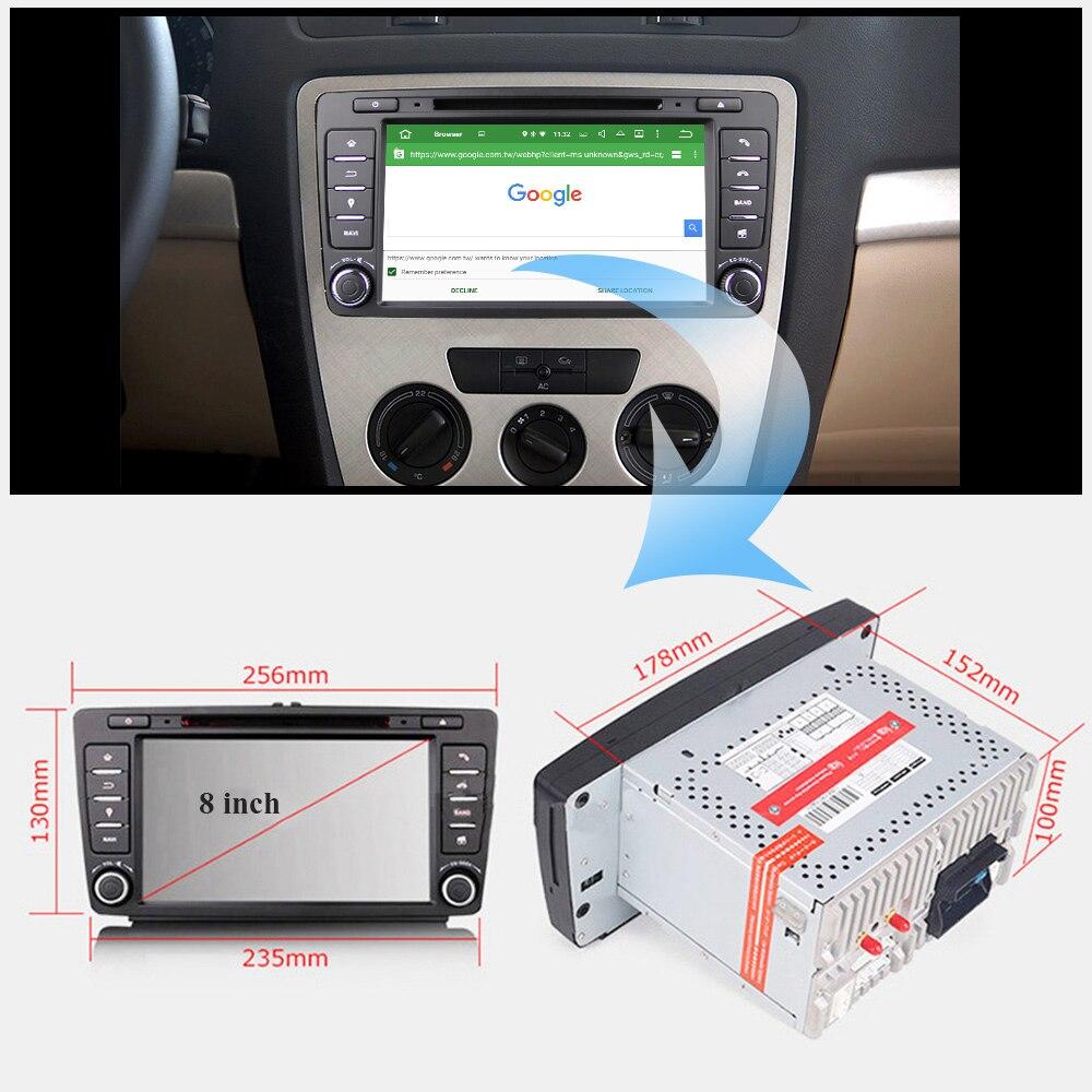 Автомобильный DVD GPS Eunavi, 2 Din, для Skoda Octavia 2012 2013 A 5 A5 Yeti Fabia, Android 9,0, четырехъядерный, 2 Гб ОЗУ, Стерео Радио Навигация