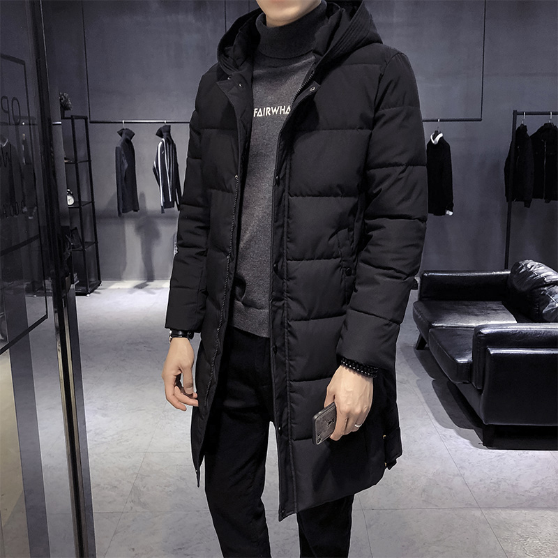 Outwear Cotone Cappotti Con Del Rivestimento Giacca Di Maschio Cappuccio Il Parka  Imbottito Trincea Spessore Uomo grigio Addensare Uomini Caldo Inverno ... 240f878cb39