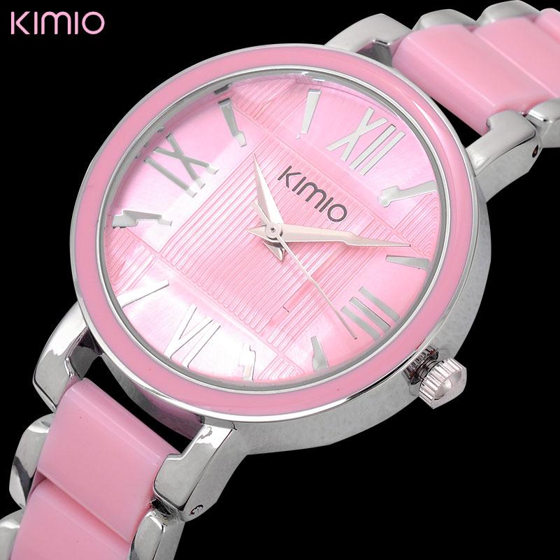 mode kvinnor kvarts klocka KIMIO varumärke klänning armband klockor lyx dam klockor 2018 presentklocka analog display armbandsur 470