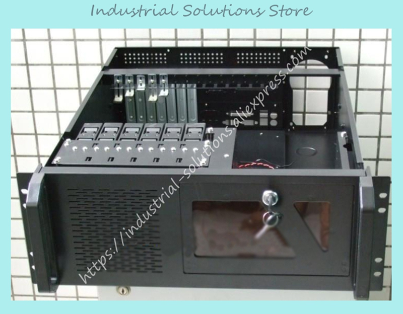 New 4U Industrial Computer Case 535mm Lengthen 4U Computer Case 7 Hard Drive 3 Optical Drive Bit Server Computer Case new 2u industrial computer case 2u server computer case 6 hard drive 2 optical drive 550 large panel high