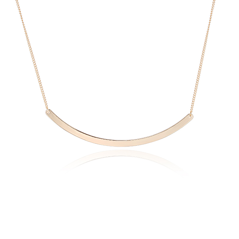 Gold-tone Collar Circle Bar Necklace Choker Bar Pendant Necklace Fashion Stainless Steel Neckless Body Chain Jewelry NL-0225