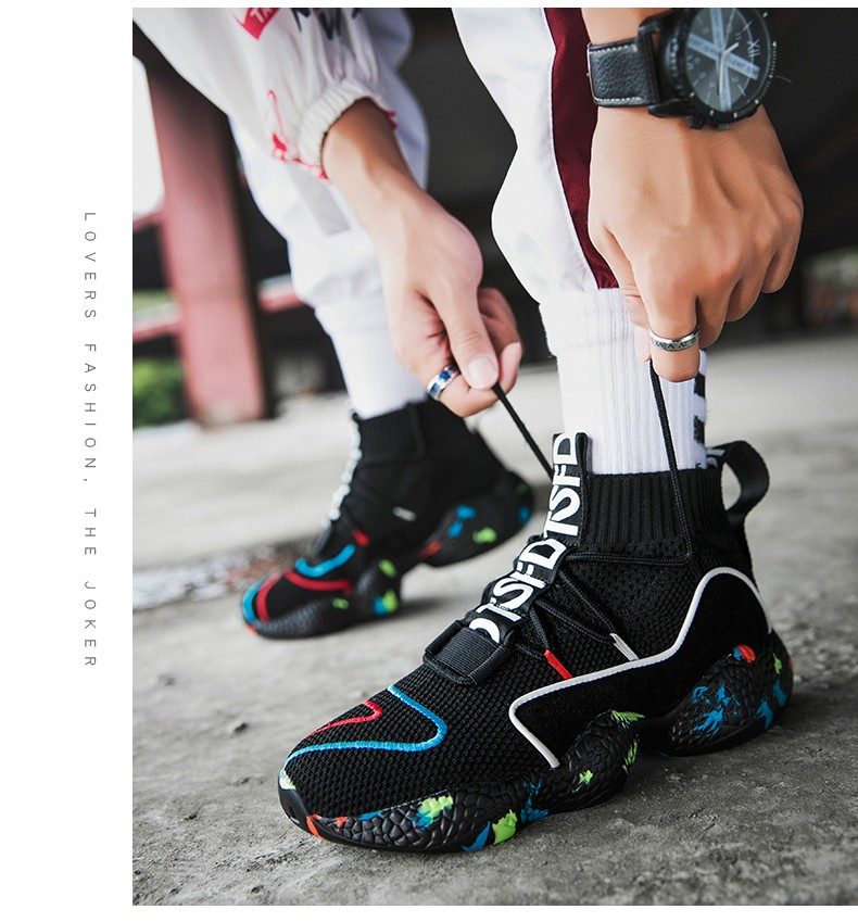 Mens Shoes Breathable High Top Sneakers