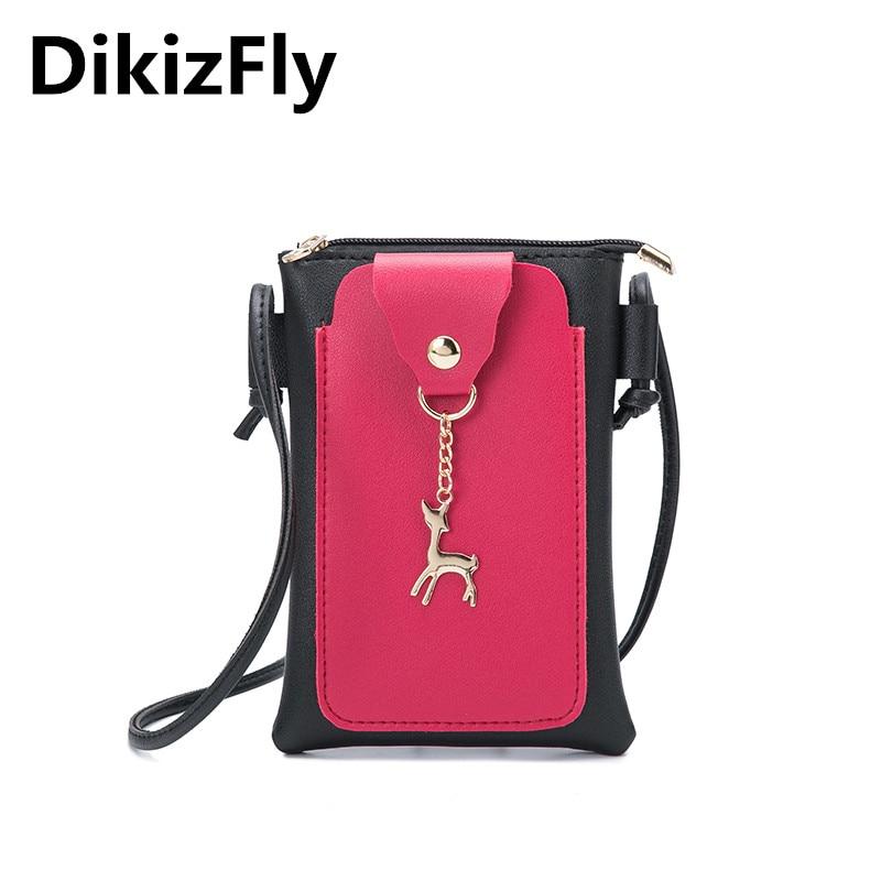 DikizFly Fashion Mini Phone Bags Women Messenger Bags For Women 2018 Panelled Girls baobao Handbag Sac a main bolso
