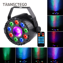 Led Par Disco Light DMX 512 RGB UV Stage Light Dj Sound Party Lights Color Music Ball Laser Projector Stroboscope for Disco Lamp стоимость