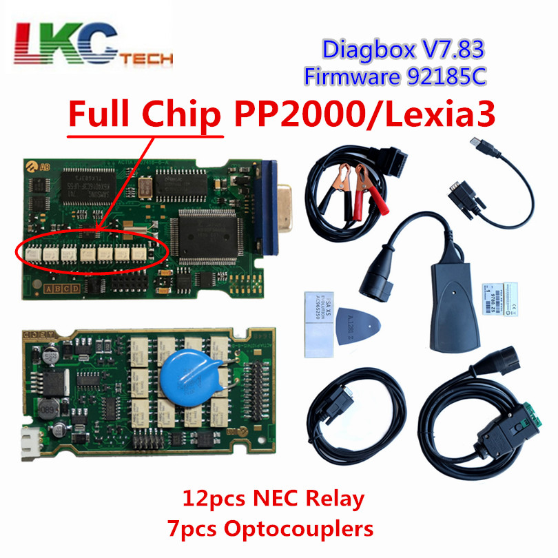 Full Chips Diagbox V7.83 With 921815C Firmware Lexia3 /PP2000 V48/V25 Lexia 3 For Cit-roen/Peug-eot Diagnostic Tool(China)